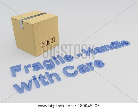 Fragile - Handle With Care Concept