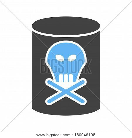 Chemical, dangerous, label icon vector image. Can also be used for chemistry. Suitable for mobile apps, web apps and print media.