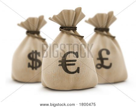 Bags With Money Euro