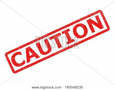 caution stamp sign. caution stamp on white background.