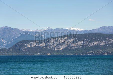 Garda Lake /Lago di Garda/ largest Italian lake in North Italy