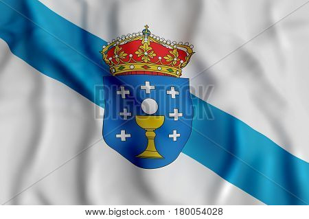 Galicia Flag Waving