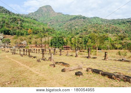 Wat Phu Temple At Champasak On Laos