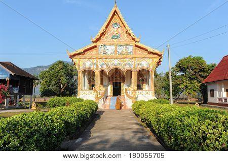 Buddhist Temple Of Champasak On Laos