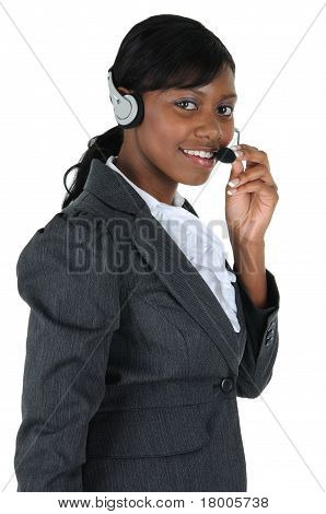 Attractive Business Woman With Headset 07