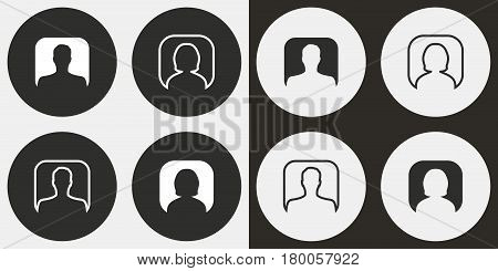 Assistance vector icons set. Illustration isolated for graphic and web design.