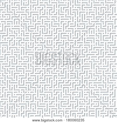 seamless labyrinth graphical abstract relief background pattern