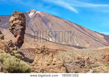 View of Roque Chinchado and Teide. Tenerife Canary Islands Spain Europe