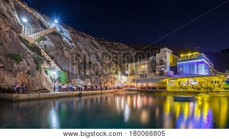 Xlendi Gozo - Beautiful cozy summer night at Xlendi Bay the nicest mediterranean town on the island of Gozo which is Malta's smaller island.