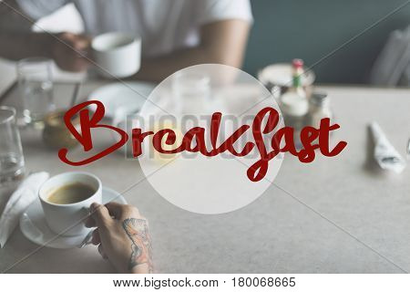 Coffee Time Good Morning Concept