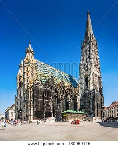 St. Stephen's Cathedral (wiener Stephansdom) In Vienna, Austria