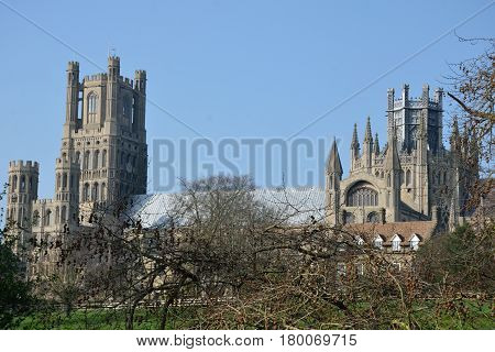 Ely Cathedral from fields to the south