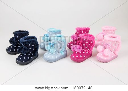 Colorful baby shoes collection. Baby fashion shoes