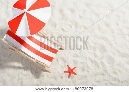 Deckchair On The Beach: Top View