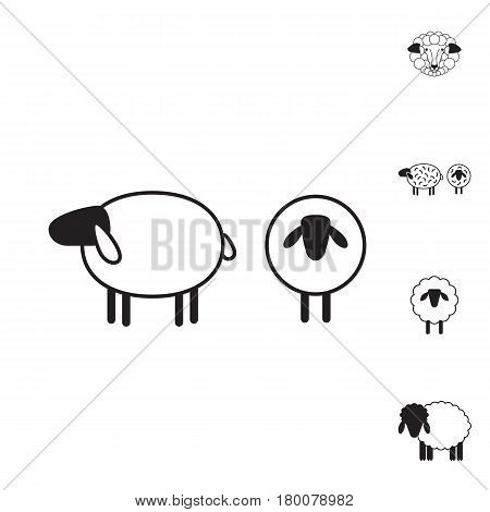 Sheep or Ram Icon, Logo, Template, Pictogram. Trendy Simple Lamb or Ewe Symbol for Market, Internet, Design, Decoration