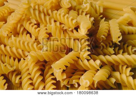 Clos up shot of arious pasta background