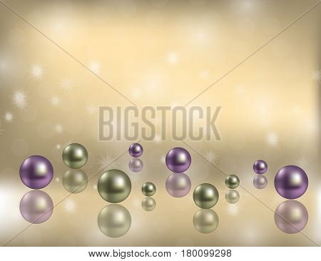Luxury Shiny Pearls Background with decorative bokeh Flecks and space for Some Text. Vector Illustration