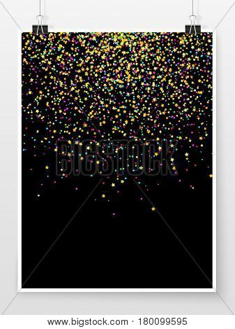 Confetti Poster Binder Clip Holiday Celebration Mock Up Star 2