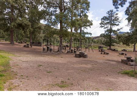 Resting place in the mountains of Gran Canaria