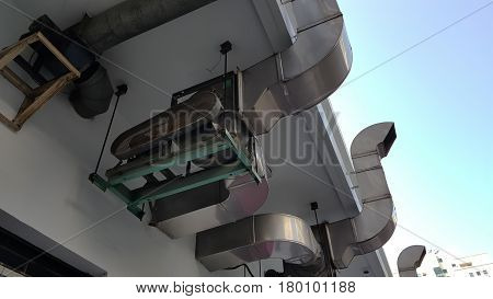 restuarant industrial hood outlet and background .