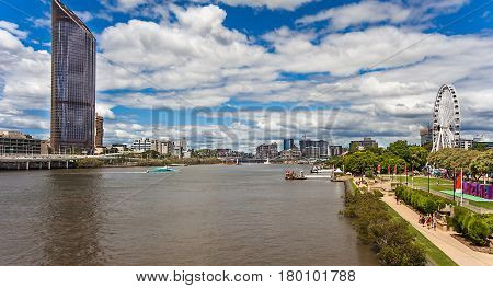Brisbane Southbank Parklands at Brisbane River Australia Queensland