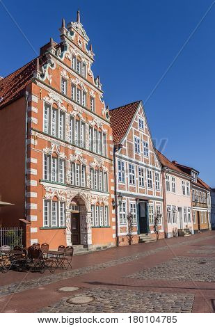 Former Mayor's House At A Cobblestoned Street In Stade