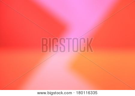 red, pink and orange blurred surfaces as a background