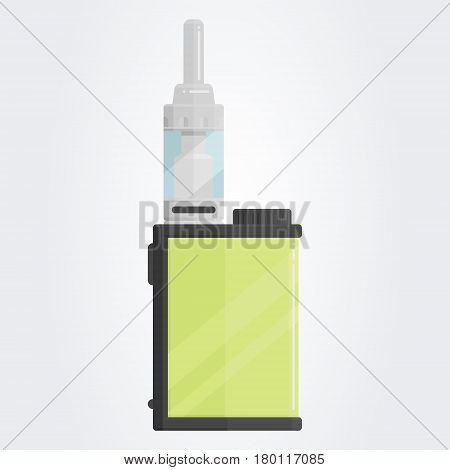 Colored flat vaping device. Part of big set. EPS10