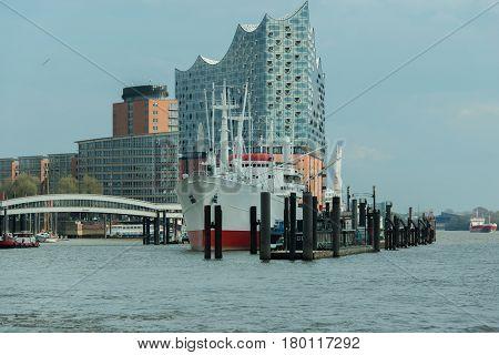 Hamburg, Germany - April 02, 2017: Elbe Philharmonic Hall Completed in Hamburg on the Elbe, April 02, 2017 in Hamburg
