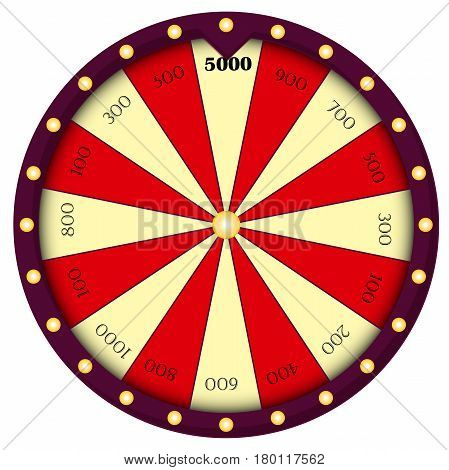Wheel of Fortune. Gambling sign. Roulette isolated