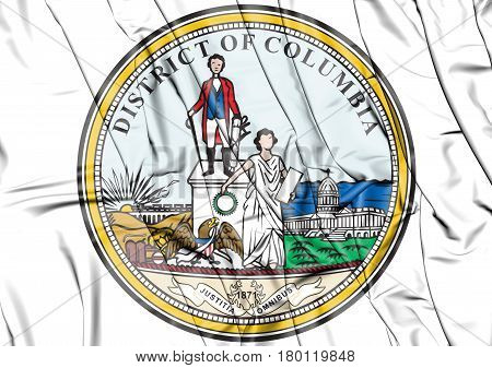 State Seal Of Washington D.c., Usa. 3D Illustration.
