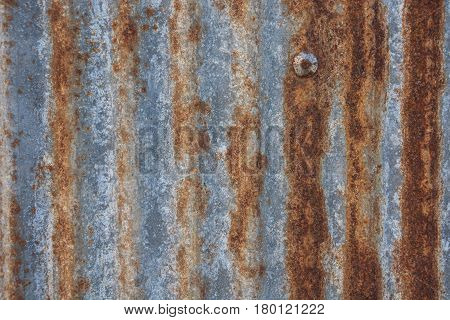 Rusted galvanized of iron plate Old Zinc rust textured for background