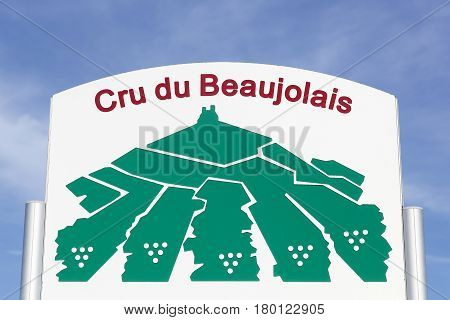 Panel cru wine of Beaujolais in France