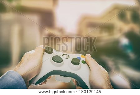gaming game play tv fun gamer gamepad guy controller video.
