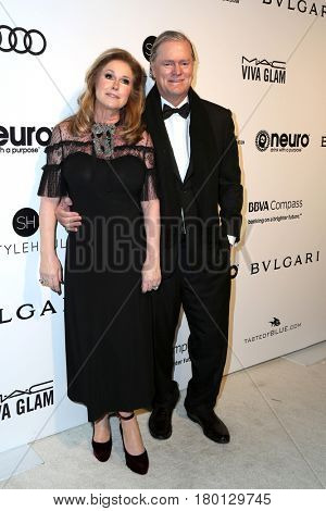 LOS ANGELES - FEB 26:  Kathy Hilton, Rick Hilton at the Elton John Oscar Viewing Party 2017 at the City of West Hollywood Park on February 26, 2017 in West Hollywood, CA