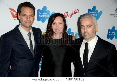 LOS ANGELES - FEB 24:  Emile Sherman, Angie Fielder, Iain Canning at the Screen Australia and Australians in Film Oscar Reception at Four Seasons Hotel on February 24, 2017 in Beverly Hills, CA