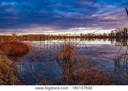 Colorado Sunrise at a Pond Near Grand Junction