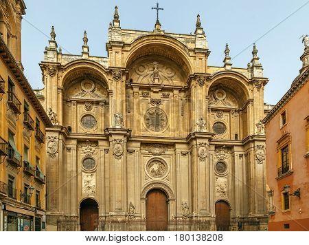Granada Cathedral is a Roman Catholic church in the city of Granada Spain. Facade