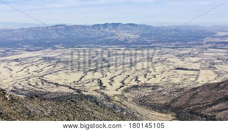 A View of the Mule Mountains Arizona from the Crest Trail in the Huachuca Mountains