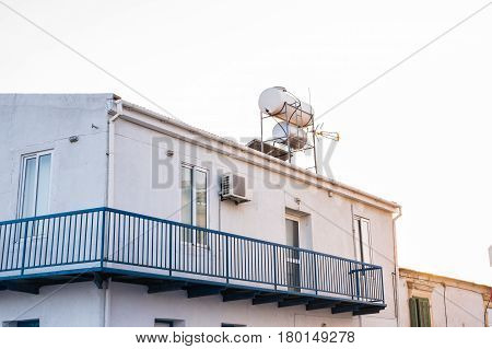 Solar Hot Water System. Solar water heating system on the rooftops.