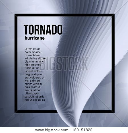 Isolated abstract tornado hurricane, natural disaster vector illustration.