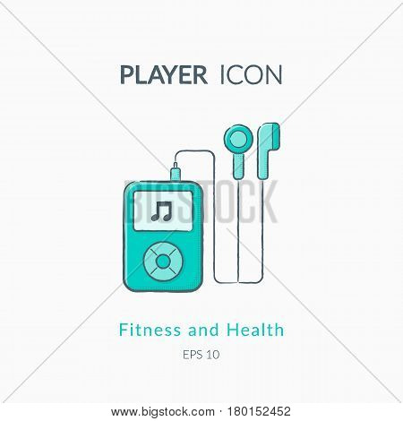 Sports equipment vector logo. Modern pictogram for web graphics