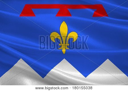 Flag of Alpes de Haute Provence is a French department in the south of France. 3d illustration