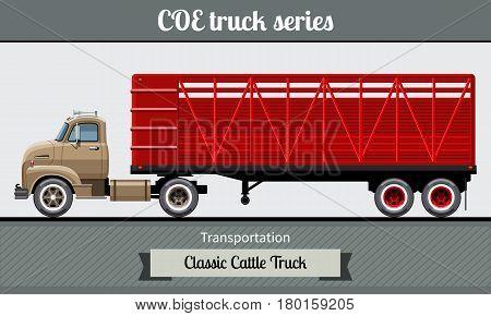 Classic Cattle Truck Semi Trailer