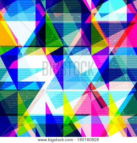 Psychedelic geometric seamless texture (vector eps 10)