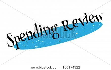 Spending Review rubber stamp. Grunge design with dust scratches. Effects can be easily removed for a clean, crisp look. Color is easily changed.