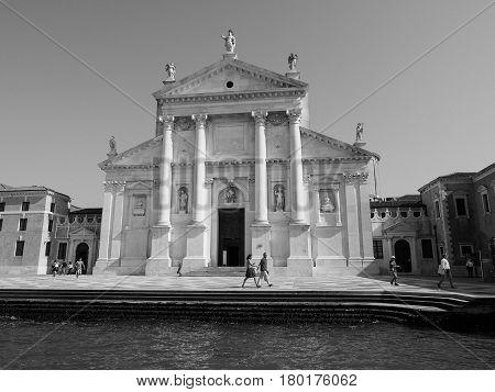 San Giorgio Church In Venice In Black And White