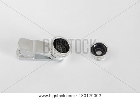 Lens Fisheye For Smartphone Set With Covers White Background