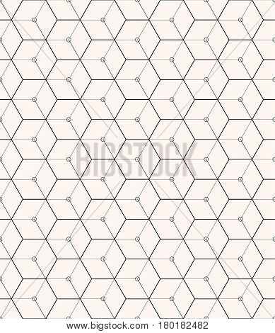 Hexagons gray vector simple seamless pattern background for web
