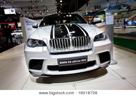 Moscow, Russia - August 25:  Grey Car Bmw X6  On Display At Moscow International Exhibition Interaut